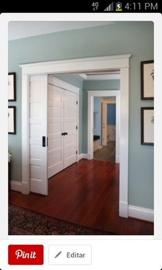 Color de pared y puertas divisoras