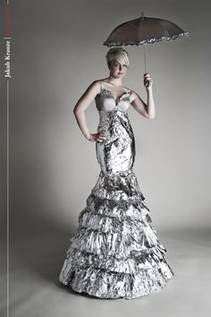 Tin Foil Gown-- so Project Runway! Love!