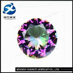 8mm Lab Created fancy jewelry china gemstone round brilliant plated colorful crystal glass gem buyer wholesale diamond ring