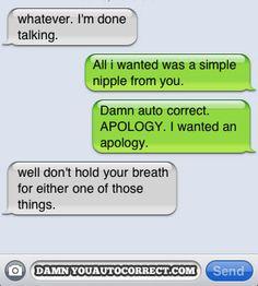 Funny Break Up Texts   funny auto-correct texts - Auto Corrected Breakup