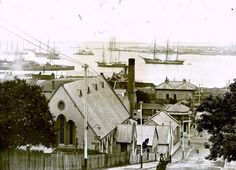 Newcastle NSW early days, love the ships #AustralianHistory