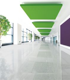 Ideafabric | Ecotex by IDEATEC #architonic #nowonarchitonic #interior #design #furniture #panel #ceiling #green #acoustic