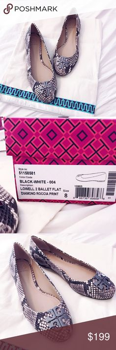 Tory Butch Lowell 2 Ballet Flats Black and White Brand new. No trades. Tory Burch Shoes Flats & Loafers