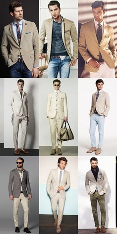 Fashion Beans Men's SS14 Colour Trend: Nude Tones #mensfashion Lookbook Inspiration: Tailoring