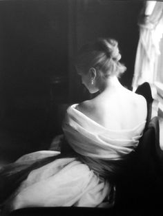 Model Margy Cato in a test shoot by Lillian Bassman, 1950s.