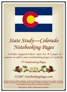 State Study - Colorado Notebooking Pages