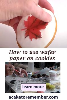 How to Decorate Store Bought Cookies with Wafer Paper Edible Cake Decorations, Wafer Cookies, Cookie Tutorials, Wafer Paper, Paper Butterflies, Paper Ship, Fondant Molds, Cute Cakes, Cookie Decorating