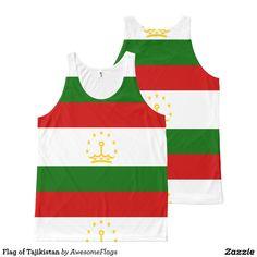 Flag of Tajikistan All-Over Print Tank Top