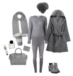 """""""It's all about the grey feeling X"""" by lijalinn on Polyvore featuring Dorothy Perkins, Acne Studios, Yves Saint Laurent, Coal, WithChic, Givenchy, Byredo, Diptyque and Valentino"""
