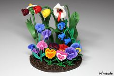 The Flowers - Alice in Wonderland - Polymer Clay