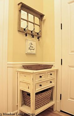 Cute entryway idea     I     The AFTER Party  A DIY Entryway Sign - Meadow Lake Road
