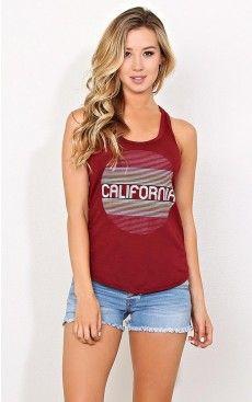 CALIFORNIA Vintage Inspired Tank