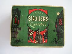 Excited to share the latest addition to my #etsy shop: Strollers Cigarette tin (50/empty) by Philip Morris & Co Ltd c.1940 http://etsy.me/2EszjRH #vintage #collectables #cigarettetins #tobaccocollectibles