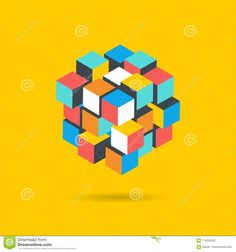 Cube Puzzle Solution Solving Problem Concept Banner Stock Vector - Illustration of creative, brain: 114230429 Isometric Art, Rubik's Cube, Cube Puzzle, Banner Vector, Vector Design, Problem Solving, Homework, Bespoke, Branding