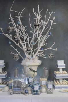 Winter Wonderland candy buffet