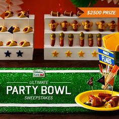 Enter The Lit'l Smokies Ultimate Party Bowl Sweepstakes for the chance to win $2500 towards your ultimate Game Day party!  1) Create a board of your most ultimate recipes, décor, and entertainment for Game Day 2) Submit your board URL at [shareroot page URL] 3) Hooray! You're entered!