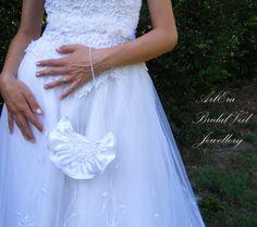 Bridal Bag Satin Bridal Purse Weddings Bridal by ArtEraBridal