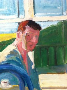 Detail, Paul Wonner, Model Drinking Coffee, 1964. Transition between light and shadow sides is rad.
