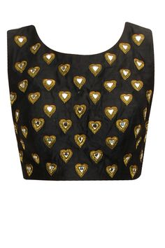 Black heart motifs blouse available only at Pernia's Pop-Up Shop.