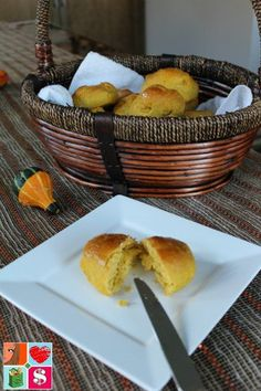 Pumpkin Dinner Rolls Recipe from Having Fun Saving and Cooking.