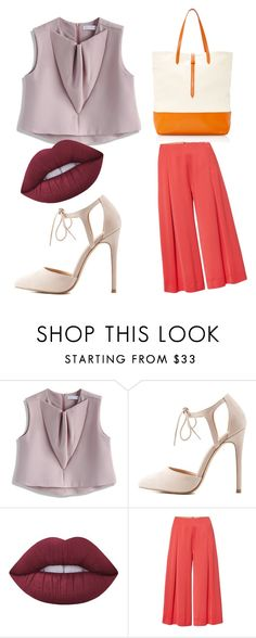 """""""untitled"""" by nadyanataliaa on Polyvore featuring Chicwish, Charlotte Russe, Lime Crime, Marella and Tomas Maier"""