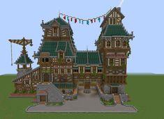 Minecraft Building Designs, Cute Minecraft Houses, Minecraft City Buildings, Minecraft Mansion, Minecraft Castle, Minecraft Plans, Minecraft Survival, Minecraft Tutorial, Minecraft Blueprints