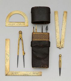 A DRAWING SET, Paris, circa 1690. Brass and steel - by Koller Auctions
