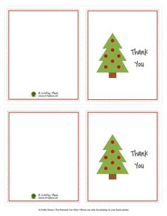 Today On The Blog I Have A Printable For Christmas Thank You Notes