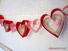 Easy Valentines Day Craft DIY Garland