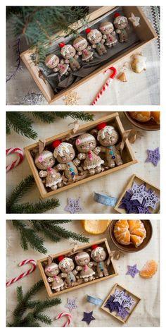 Amigurumi Gingerbread Man Bust Free Pattern – Amigurumi Free Patterns And Tuto. Crochet Gifts, Cute Crochet, Crochet Dolls, Easy Crochet, Crochet Things, Knitting Blogs, Easy Knitting, Knitting Patterns, Crochet Instructions