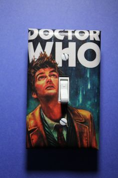 Dr Who Light Switch Plate Cover comic book by ComicRecycled, $7.99