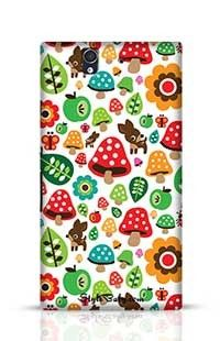 Musroom Autumn Deer And Apple Pattern Sony Xperia Z Phone Case
