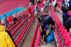 Sustentator// Juntar la basura en el Mundial