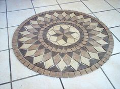 orla 003 Mosaic Diy, Marble Mosaic, Mosaic Tiles, Tiling, Art Decor, Decoration, Paving Pattern, Mosaic Furniture, Bottle Cap Table