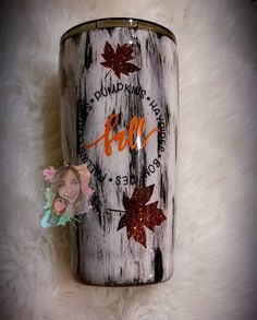 Fall Tumbler – Glitter tumblers made by me – agepoxy Vinyl Tumblers, Custom Tumblers, Personalized Tumblers, Vinyl Crafts, Resin Crafts, Glitter Cups, Glitter Tumblers, Christmas Tumblers, Diy Mugs