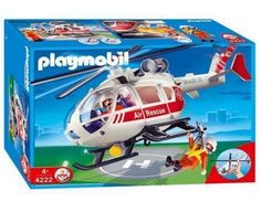 PLAYMOBIL 4222 - MEDICAL COPTER / AIR RESCUE SERVICE HELICOPTER * NEW IN BOX *