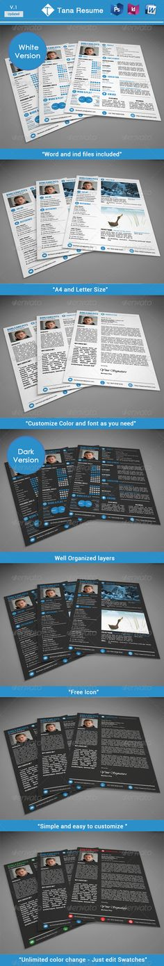Resume - #Resumes #Stationery Download here    graphicriver - purpose of a resume