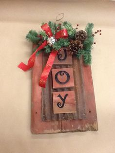 barn board joy sign christmas - Joy Christmas Decoration