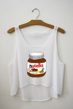 Nutella Tumblr Tank Crop Top Shirt on Etsy, $13.00
