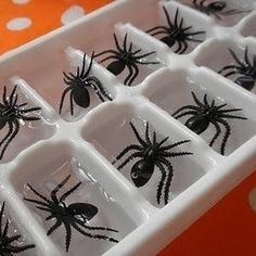 Halloween Spider ice cubes diy halloween spiders halloween 2013 halloween party ideas halloween wreath the witch is in Halloween Halloween Snacks, Comida De Halloween Ideas, Casa Halloween, Soirée Halloween, Halloween Buffet, Halloween Dinner, Halloween Birthday, Holidays Halloween, Halloween Parties