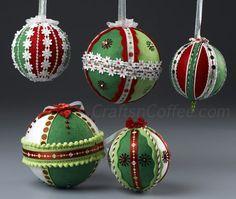 Felt and ribbon ornaments
