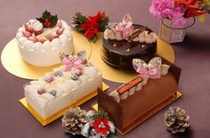 vacaciones, feliz año nuevo, vacaciones, dulces, comida, postre, comida, rollos, tortas, conos By Maria Elena Lopez