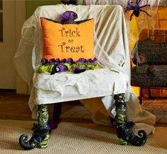 """I LOVE these """"witch boots"""" for the halloween decor!"""