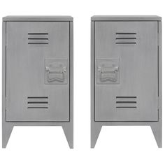 HK-Living small cabinet lockers in grey Shops, Small Cabinet, Wood Sizes, Industrial Living, House Doctor, Home Design, Filing Cabinet, Contemporary Design, Lockers