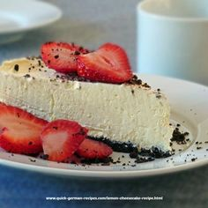 Wonderfully delicious No Bake Lemon Cheesecake  http://www.quick-german-recipes.com/lemon-cheesecake-recipe.html