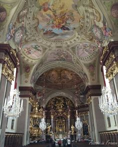 The main altar and painted ceilings