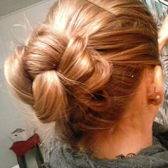 Knotted bun I personaly did yesterday ✨