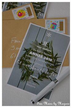 Carte de voeux 2018 à imprimer Fées Mains by Marjorie