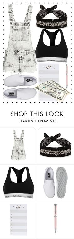 """Back to school shopping"" by itsyulianagonz ❤ liked on Polyvore featuring H&M, Fallon, Calvin Klein, Vans, Sugar Paper and Montegrappa"