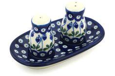 Polish Pottery 5-inch Salt and Pepper Set | Boleslawiec Stoneware | Polmedia H9394G